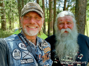 """Nico and I are camping at Camp 5 Road in The Black Hills National Forest outside of Sturgis SD. One of my neighbors is Scotty Kerekes (a full time motorcycle drifter who has lived on the road for the past 22 years ) And yesterday """"Biker Guru"""" moved in on the other side of us.  Biker Guru does two 10,000 MI trips a year bringing awareness to homeless issues and spreading his good vibes, check out his FB page and videos.... Oh yeah, Space Man and his wife Rhonda from Pennsylvania moved in also, life is good in our little black forest neighborhood......"""